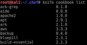 Raining Shells with a Chef Server - knife connection test