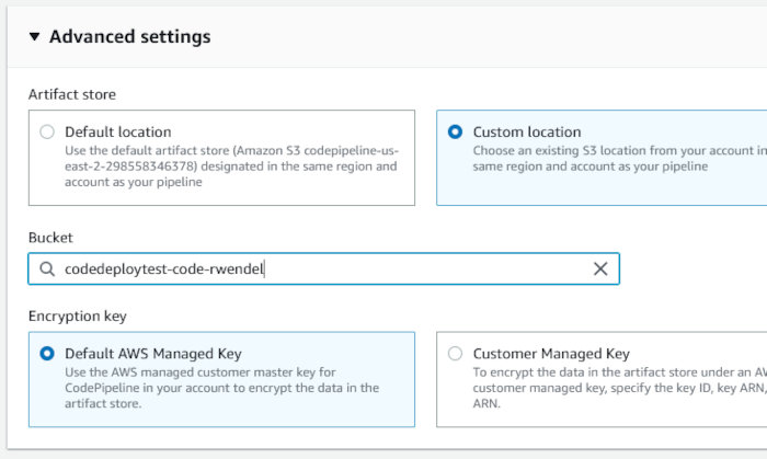 Using CodePipeline, CodeDeploy, and CodeCommit with an EC2 AutoScaling Group - CodePipeline Wizard