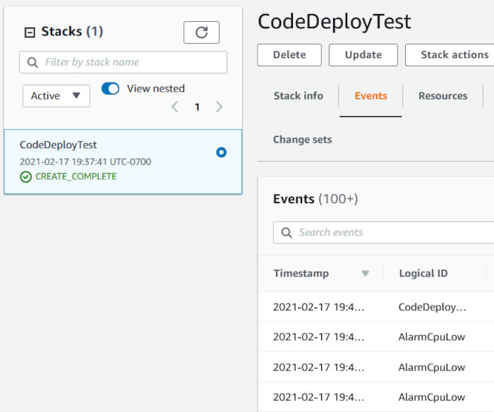 Using CodePipeline, CodeDeploy, and CodeCommit with an EC2 AutoScaling Group - Stack Creation