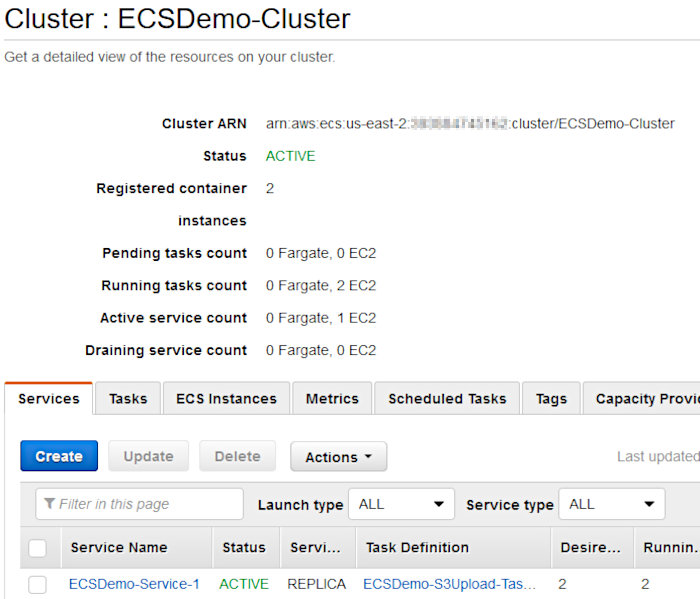 Using CodePipeline again with Elastic Container Service - ECS Service