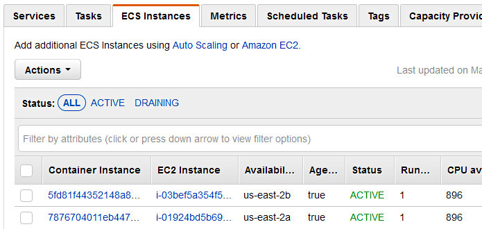 Using CodePipeline again with Elastic Container Service - ECS EC2 Instance