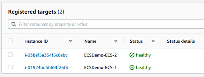 Using CodePipeline again with Elastic Container Service - Registered Targets